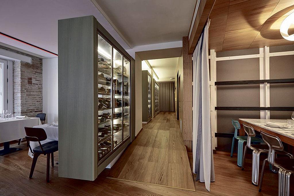 Restaurante Entrevins, diseñado por Pepe Cosín Estudio
