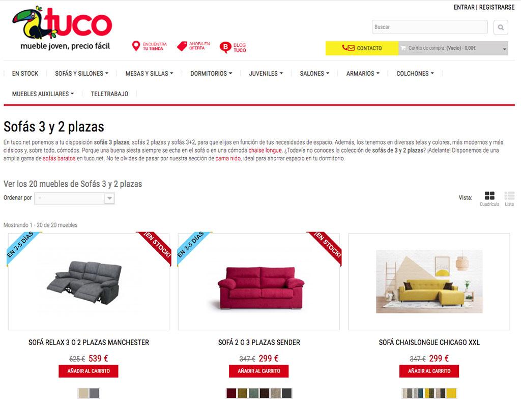 web tuco de comercio electrónico