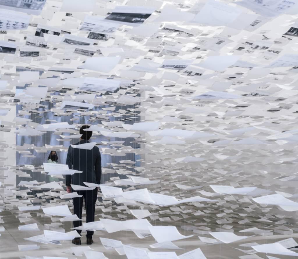 interior del Pabellón de España en la Bienale