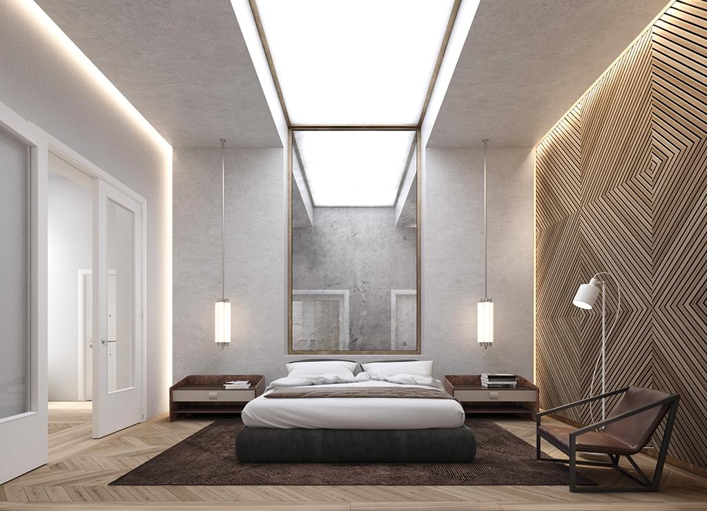 iluminación para hoteles en una habitación