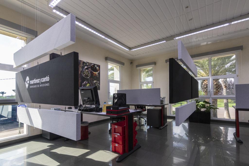 Fibertex de Ideatec, paneles para mejorar la acústica de la oficina