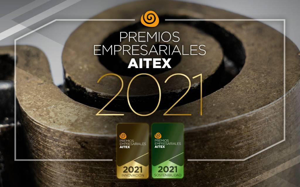 Cartel de los premios empresariales Aitex 2021