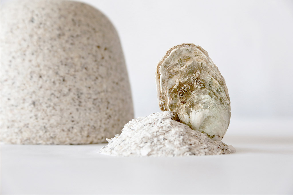 material creado a partir de concha de ostra