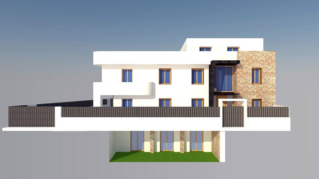 recreación de la fachada de esta vivienda Passivhaus en Picanya