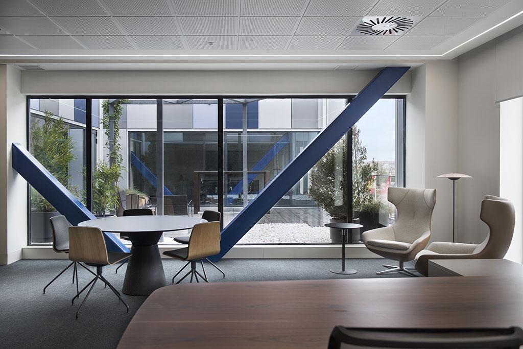 Área de gerencia de las nuevas oficinas