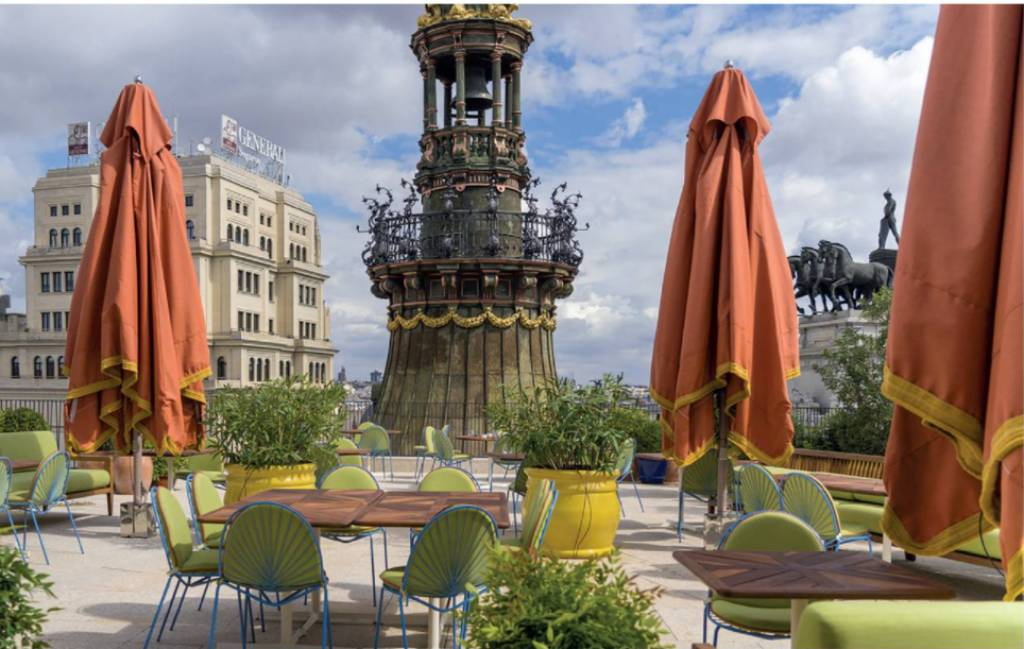 terraza del hotel Four Seasons Madrid