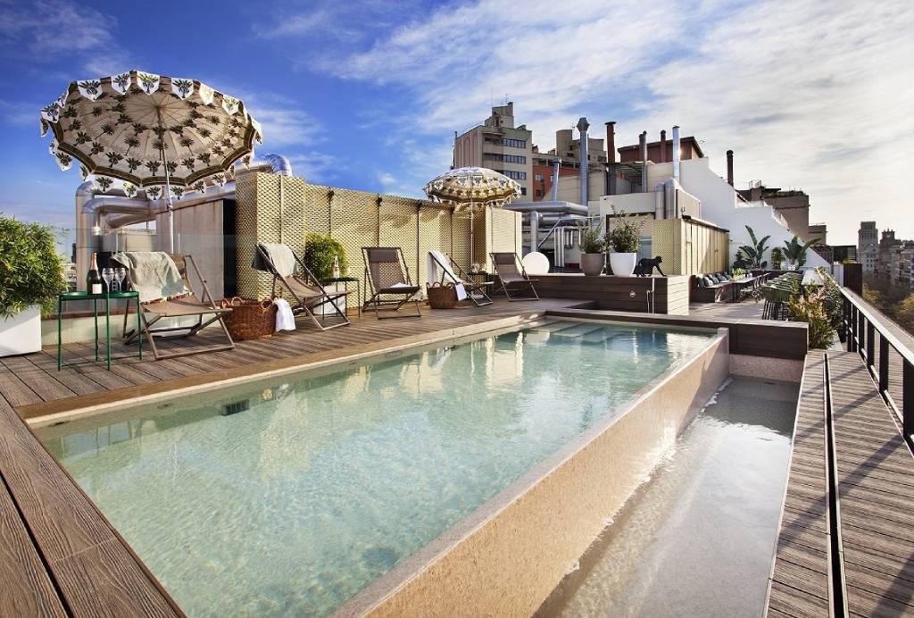 Terraza del Hotel Vincci Gala en Barcelona