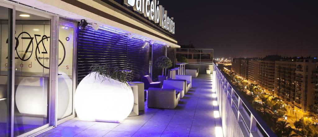terraza de verano del hotel Barceló en Valencia