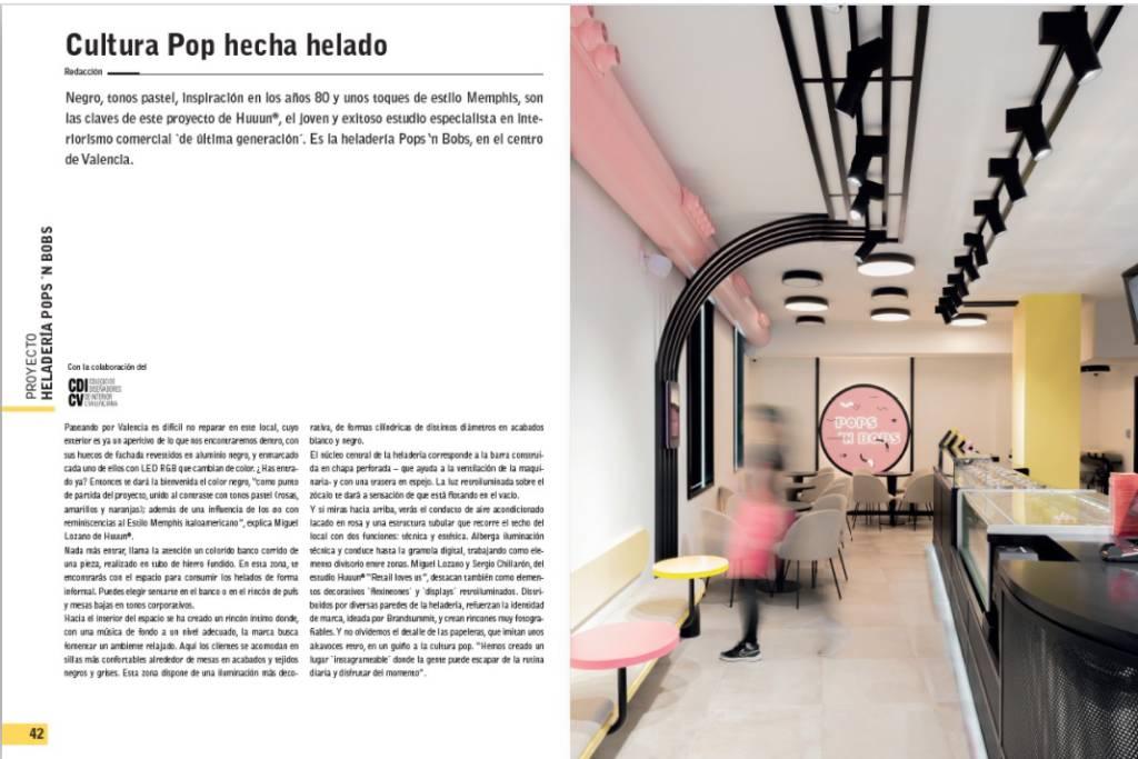 reportaje de spaincontract sobre heladeróa Pops and bobs